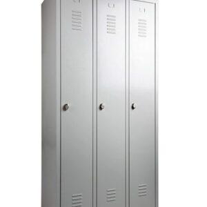 Garderobekast 3 deurs 180hx90bx50d grijs