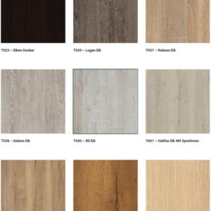 Diversen soorten dekoren van werkbladen mogelijk
