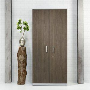 Broecan houten 2 deurskasten