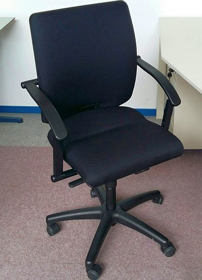Bureaustoel Martin Stoll Tec21 Stof nieuw zwart