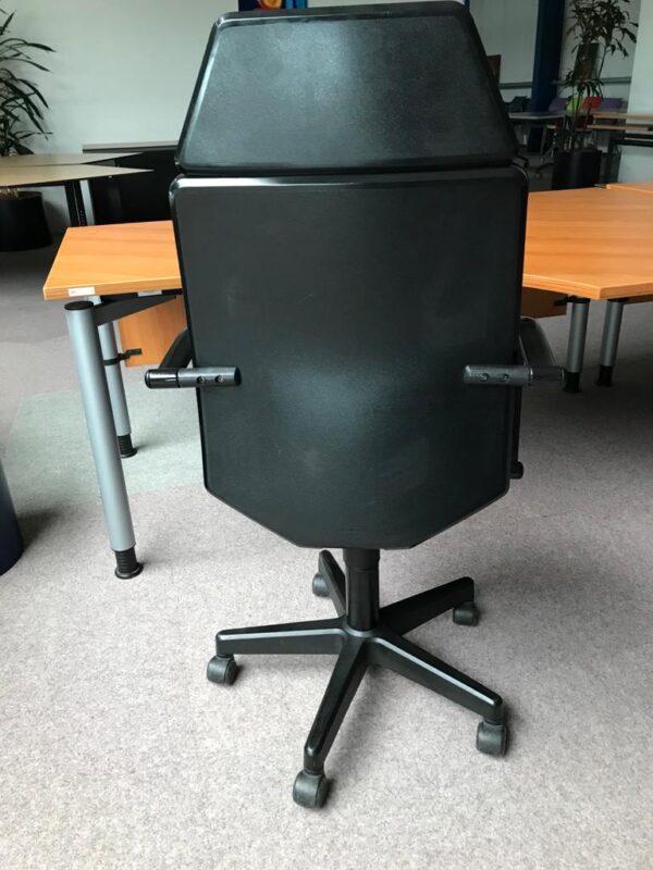 Bureaustoel Martin Stoll T18 stof zwart nieuw gestoffeerd