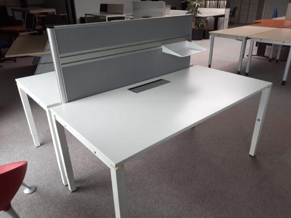 Broecan Bureautafel 160×80 wit HV 62-82cm