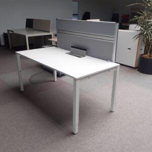 Bureautafel 160 x 80 wit HV 62-82cm